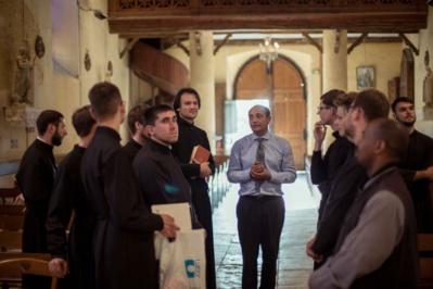 Camp d'été pour séminaristes de Russie et d'Ukraine. Dans le centre de la France