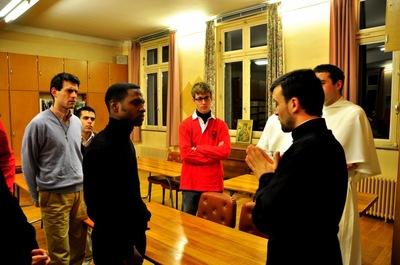 Les séminaristes d'Issy-les-Moulineaux en visite au séminaire orthodoxe