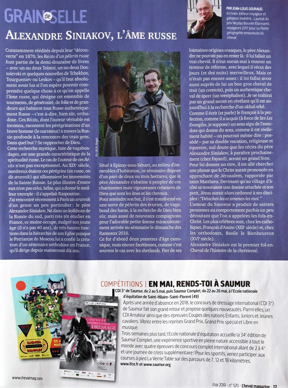 """Article sur notre petite cavalerie dans """"Cheval Magazine"""""""