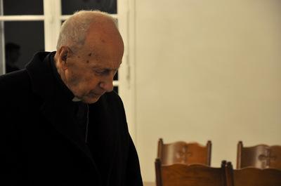 Visite au séminaire du cardinal Roger Etchegaray