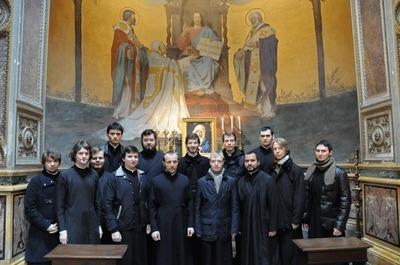 Célébration de la liturgie sur les reliques de saint Cyrille à Rome