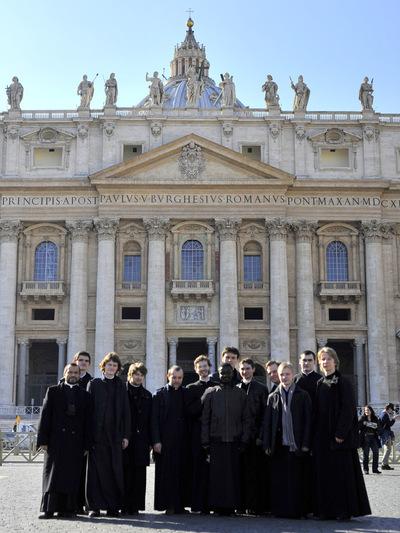 Troisième jour du pèlerinage des séminaristes à Rome
