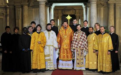 Quatrième jour du pèlerinage à Rome: liturgie sur la tombe de saint Martin le Confesseur