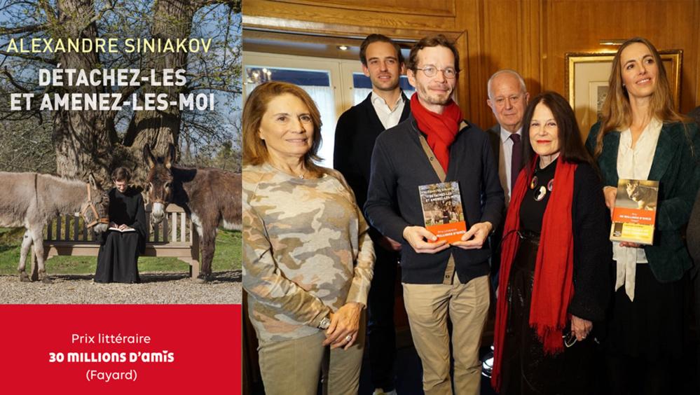 """Le P. Alexandre Siniakov a reçu le prix littéraire de la fondation """"30 Millions d'Amis"""" 2019"""