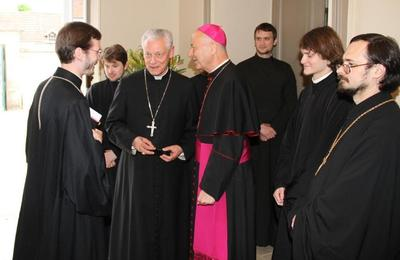 L'évêque de Versailles et l'évêque d'Evry ont rendu visite au séminaire