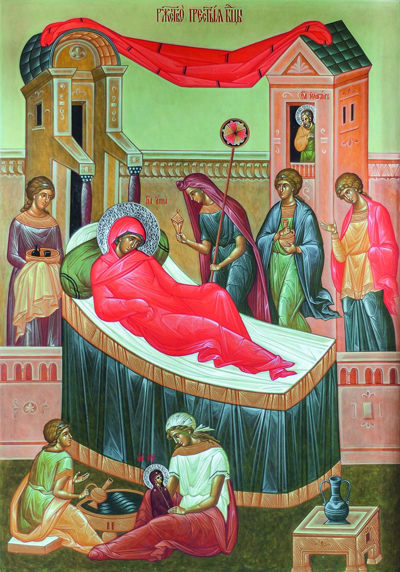 Nativité de la Vierge. Iconostase de l'église en bois du Séminaire orthodoxe à Épinay-sous-Sénart