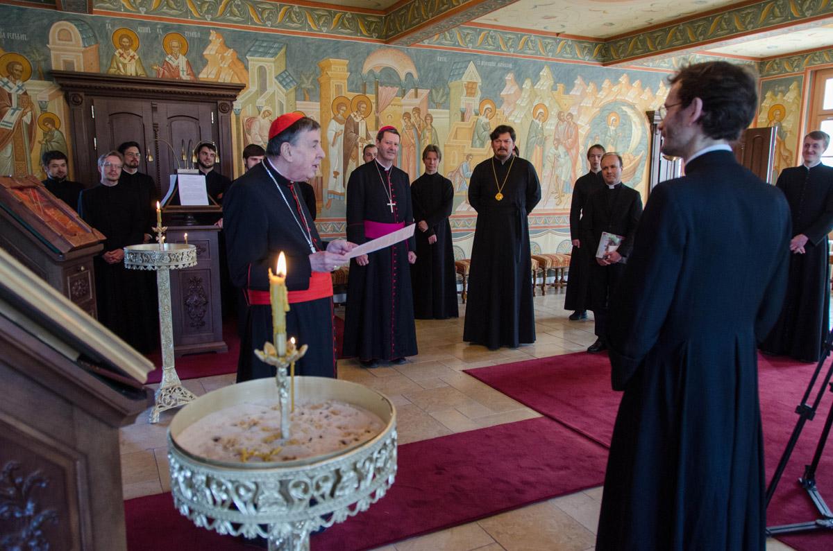 """Cardinal Kurt Koch: """"Il est remarquable que ce séminaire soit devenu le lieu privilégié de rencontre entre l'Eglise orthodoxe russe et l'Eglise catholique en France"""""""