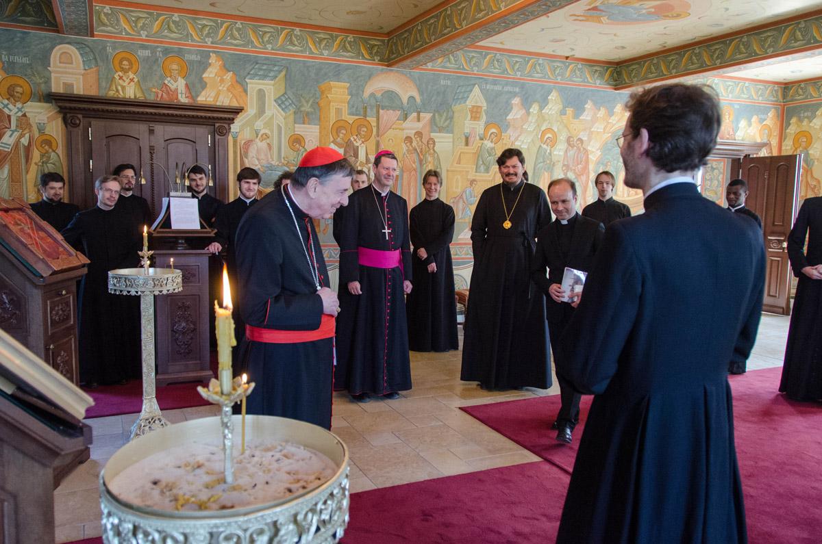 Le cardinal Kurt Koch, président du Conseil pontifical pour la promotion de l'unité des chrétiens, a rendu visite à notre Séminaire