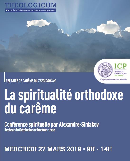 Conférence spirituelle du recteur lors de la retraite de Carême de la faculté de théologie de l'Institut catholique de Paris