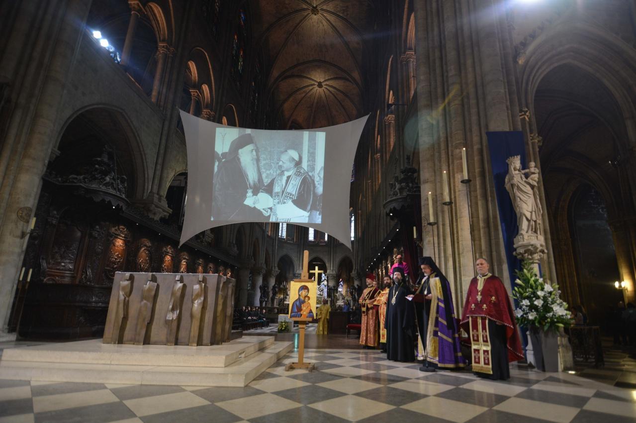 Vêpres orthodoxes à Notre-Dame de Paris