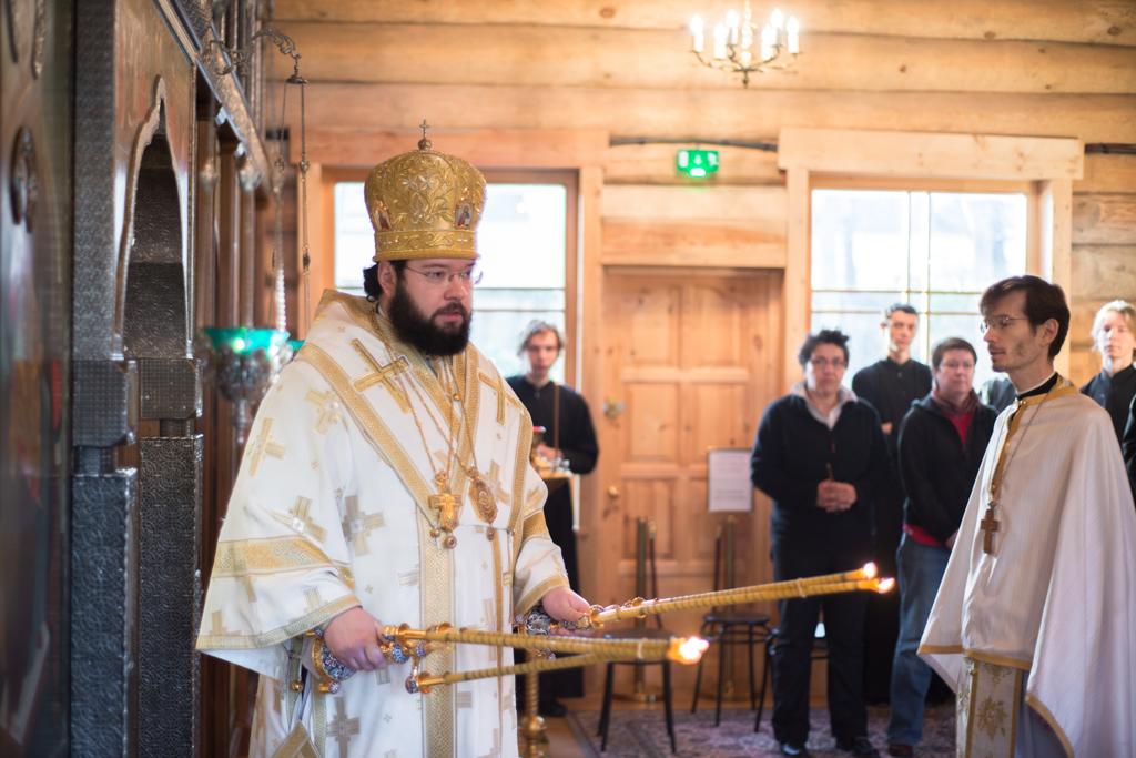 Le nouveau responsable des établissements du patriarcat de Moscou à l'étranger a célébré la liturgie au séminaire