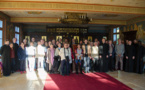 Les diacres permanents du diocèse d'Évry et leurs épouses en visite au Séminaire