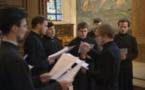 Chant de l'hymne acathiste à sainte Geneviève à l'église Saint-Martin de Meudon