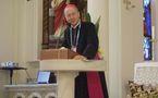 Visite au séminaire de Mgr Michel Dubost, évêque d'Evry