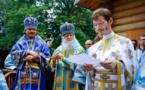 Discours du P. Alexandre Siniakov, recteur du Séminaire, à l'inauguration de l'église en bois Notre-Dame de la Nativité