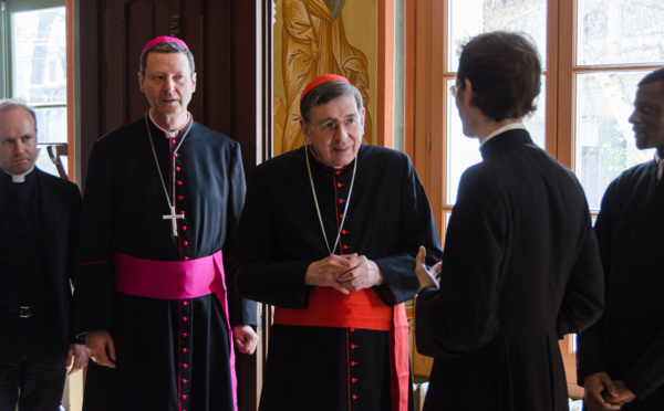 Reportage sur la visite au Séminaire du cardinal Kurt Koch